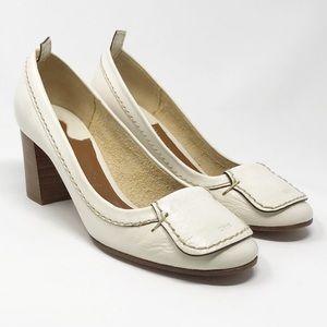 Chloe | Leather Chunky Block Heel Heels